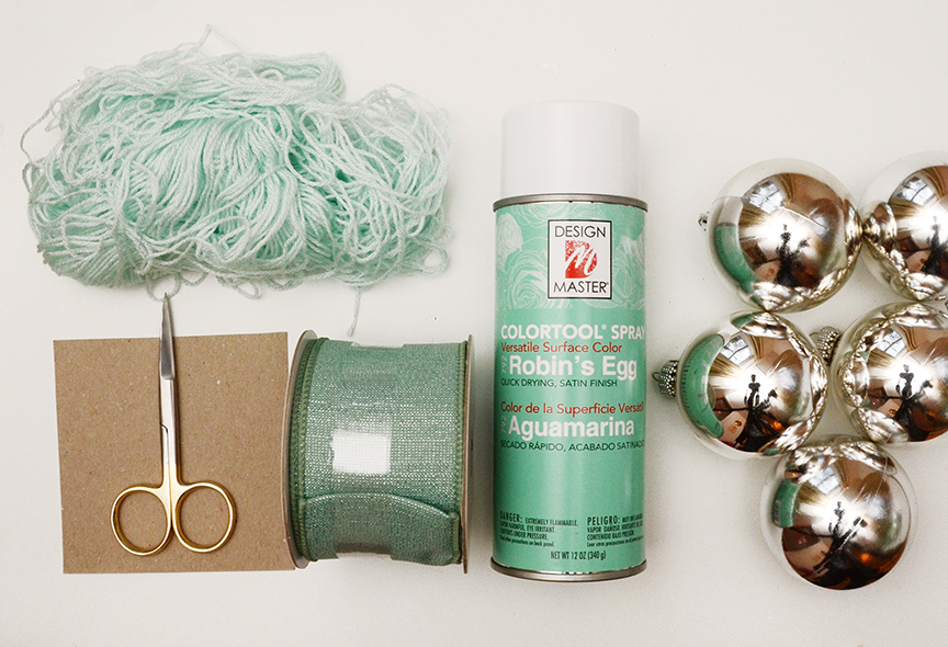 White christmas tree sage green materials