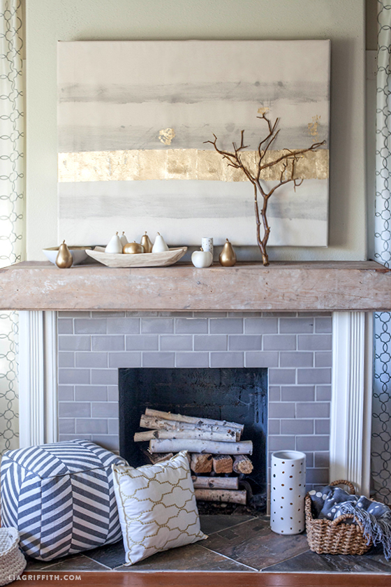 White gold mantel