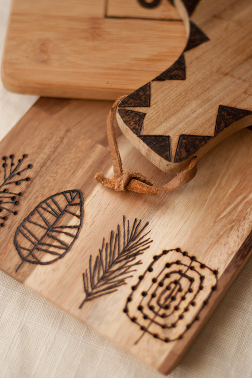 Wood burned cutting boards