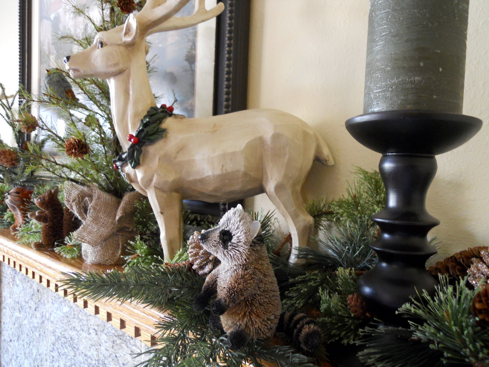 Woodland creature mantel