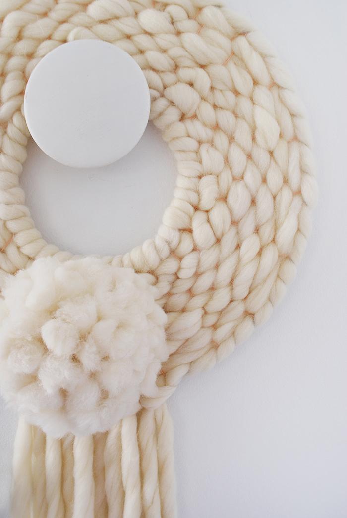 Woven wool wreath
