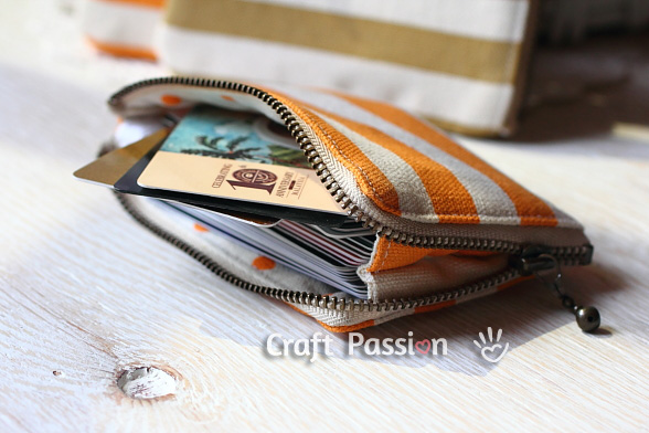Zipper card pouch diy