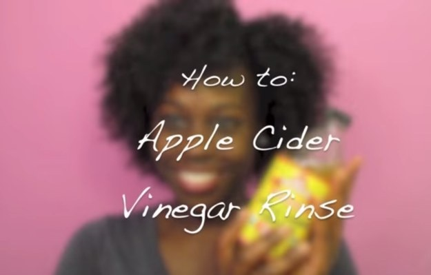 Apple cider vinegar rinse