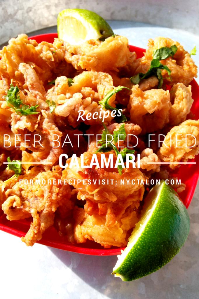 Beer battered fried calamari recipe