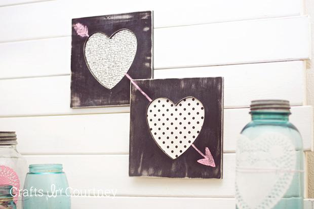 Chalkboard heart frames diy