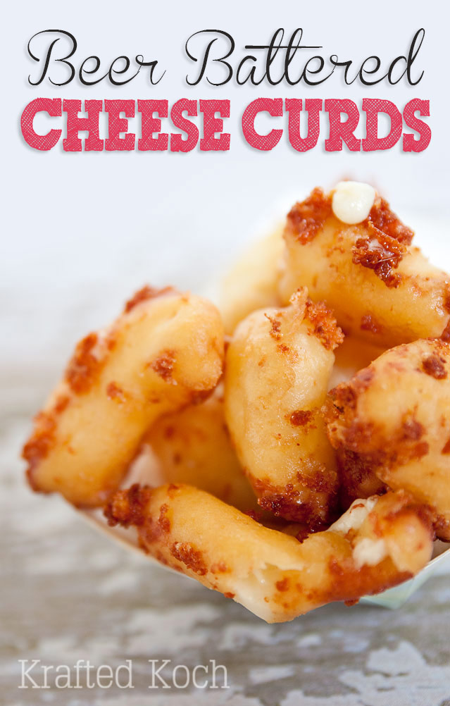 Cheese curds beer battered