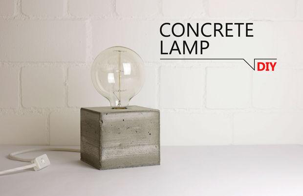 Concrete table lamp diy