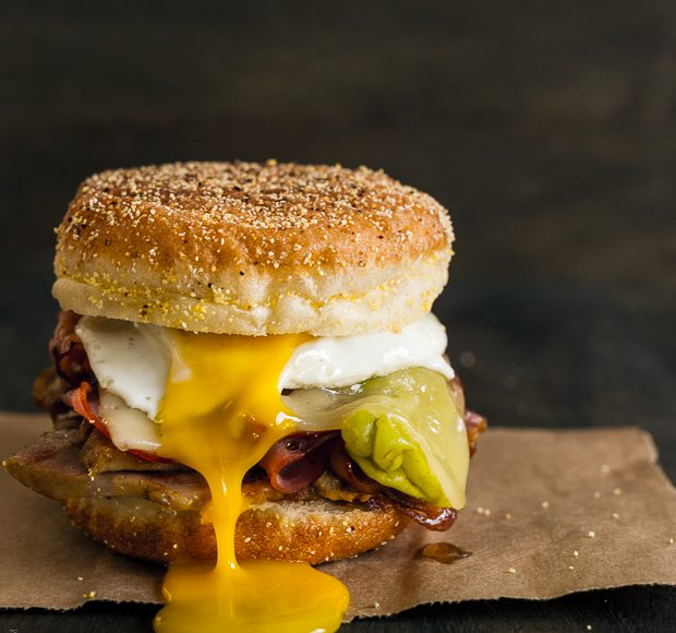 Cubano breakfast sandwich