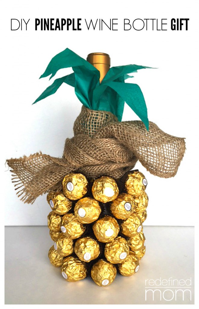 Diy pineapple wine gift