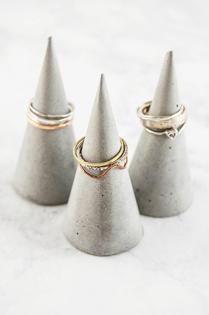 Diy ring cones using concrete