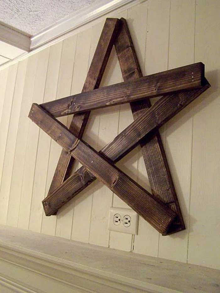 Diy wood pallet star for wall decor