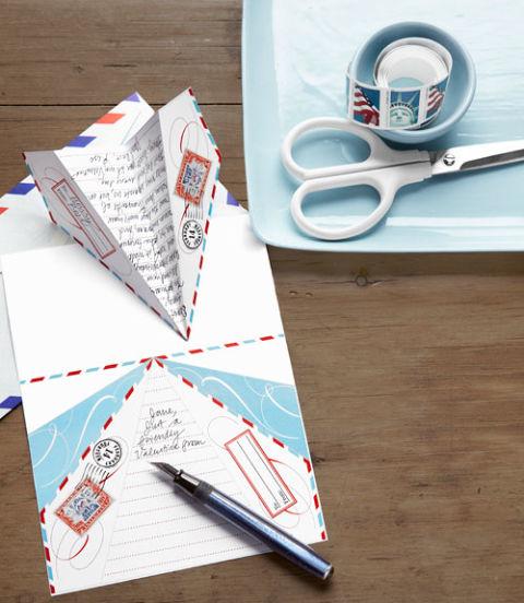 Diy paper airplane love note