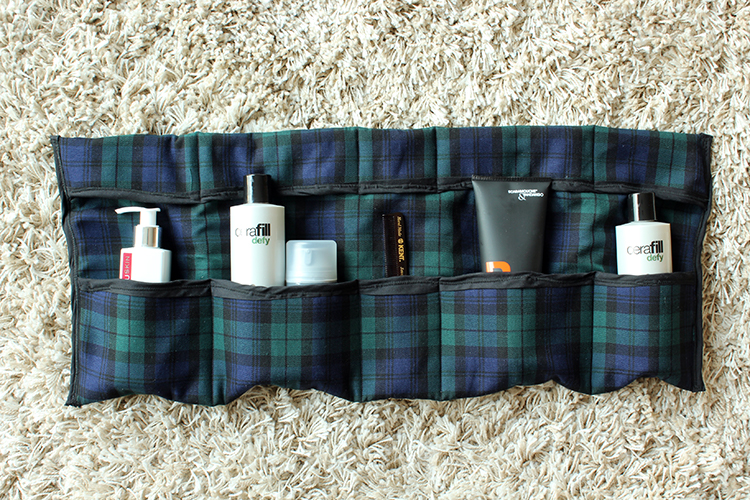 Diy roll up travel toiletries bag6