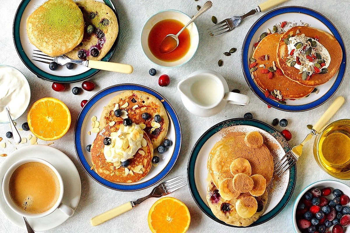 Delicious and healthy superfood pancakes