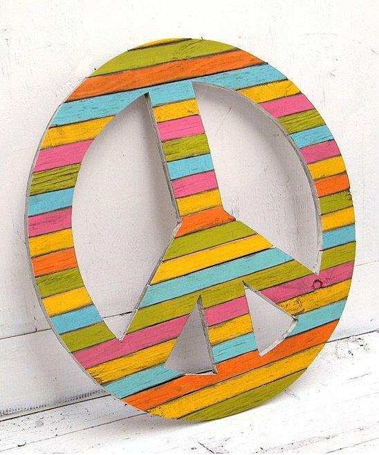 Diy peace sign pallet wall art