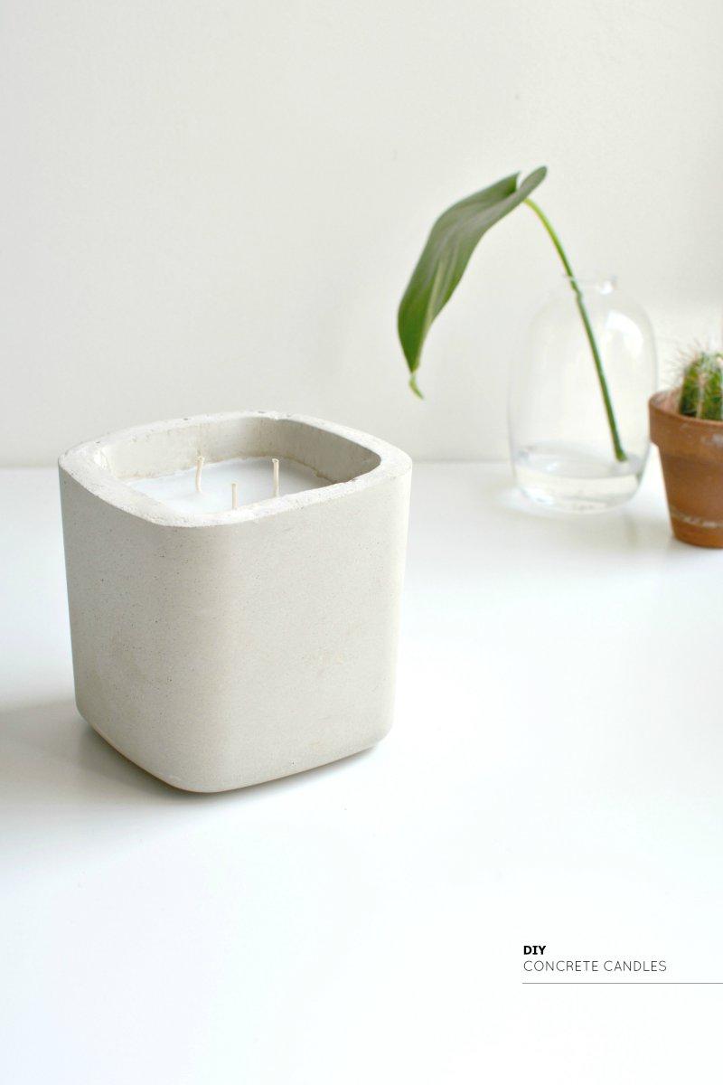 Easy diy concrete candles