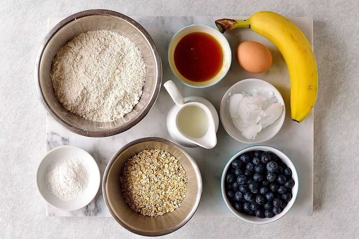 Healthy superfood pancakes ingredients