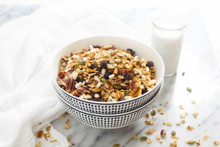 Homemade muesli cereal