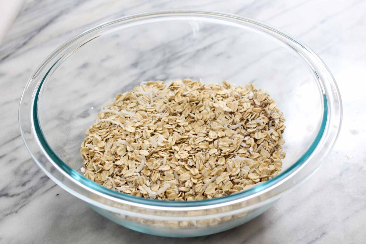 Homemade muesli cereal flax seeds