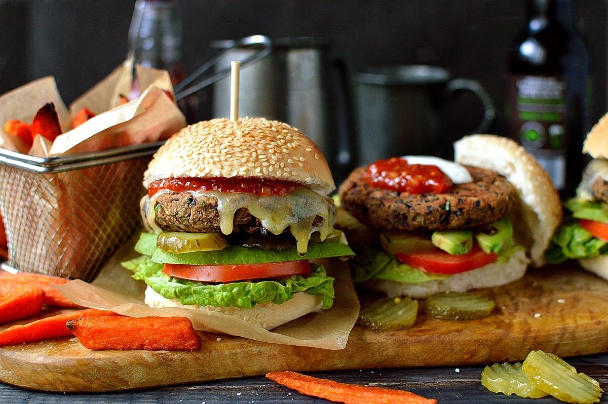 How to make vegetarian black bean burgers