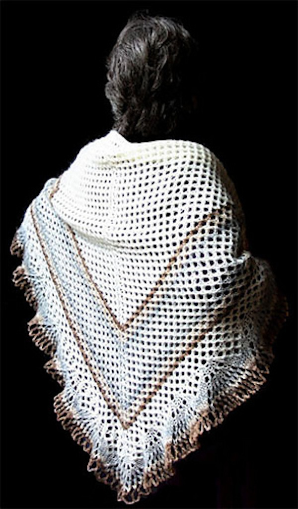 Icelandic 3 cornered shawl