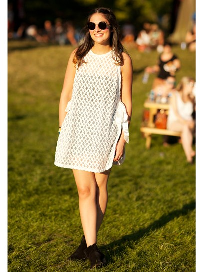 Lace dress concert outfit
