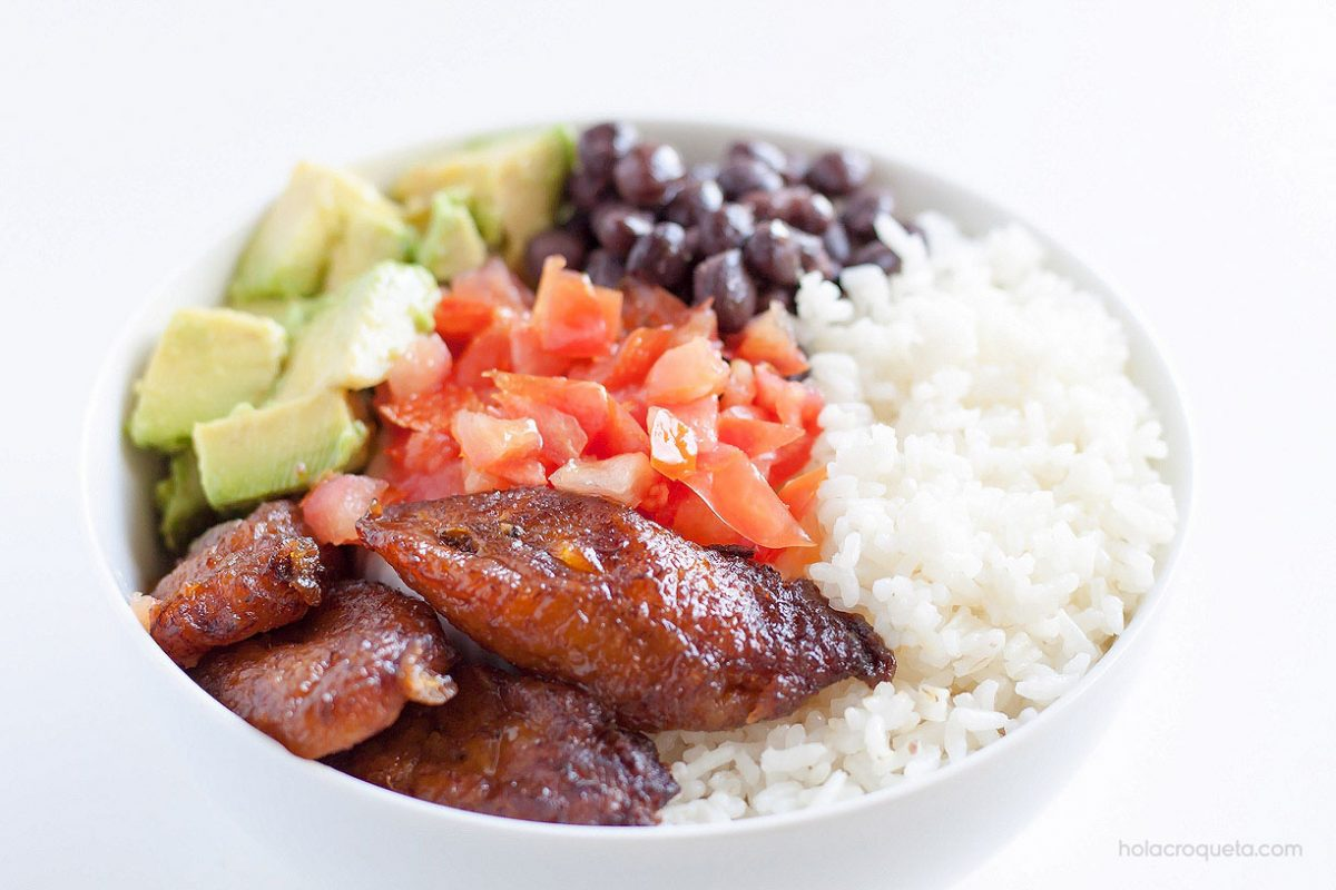 Meatless cuban bowl