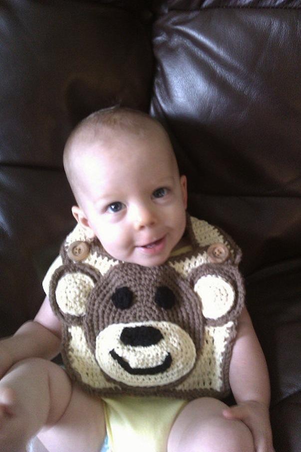 Monkey monkey monkey bib