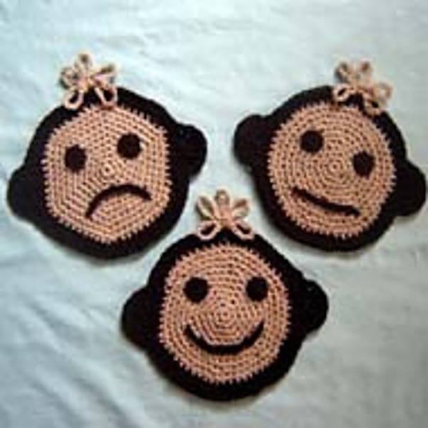 Monkey potholder set