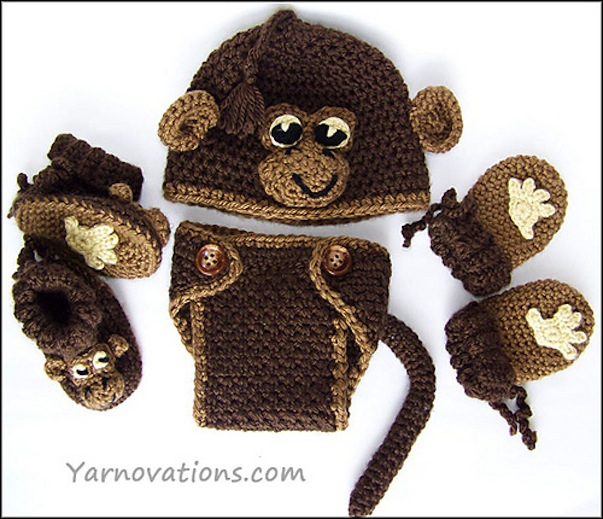 Fun Monkey Themed Yarn Projects