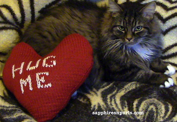 Pillow talk valentine's day pillow