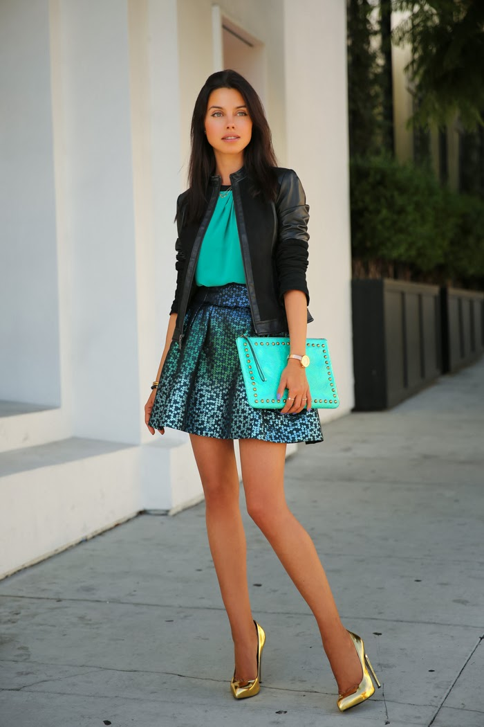 Skirt and jacket concert outfit