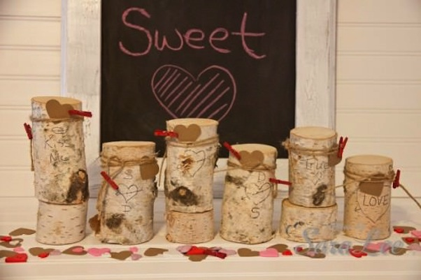 Sweetheart birch centrepiece