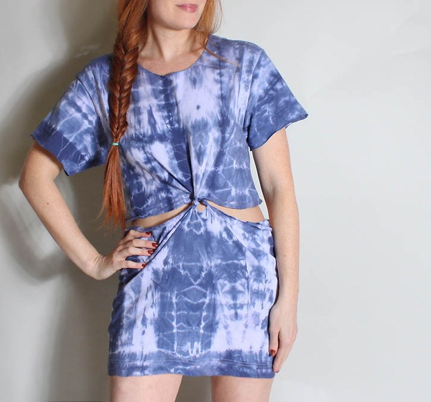 T shirt into cutout beach dress