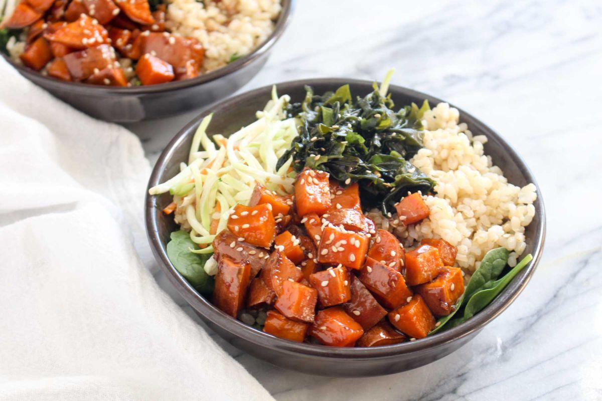 Teriyaki sweet potato rice bowls recipe you should try