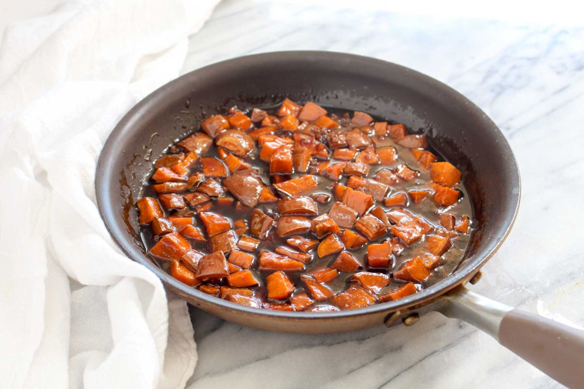 Teriyaki sweet potato rice bowls add potatoes