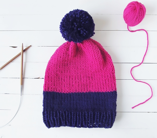 Two tone slouchy beanie tutorial