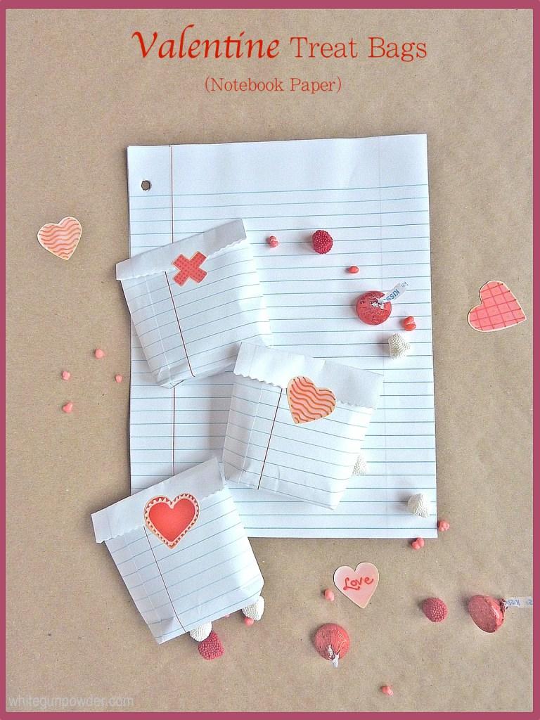 Valentine treat bags diy