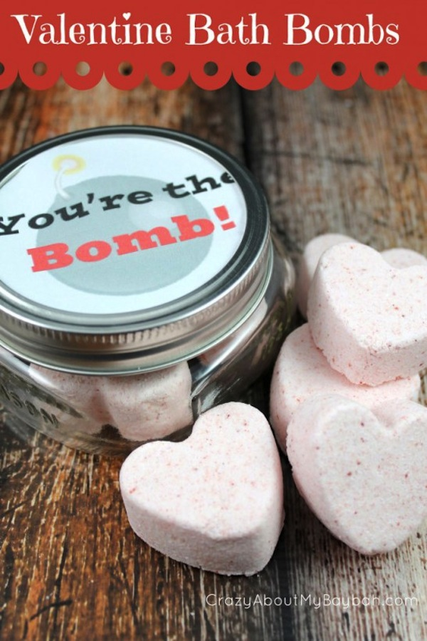 Valentine's day bath bombs