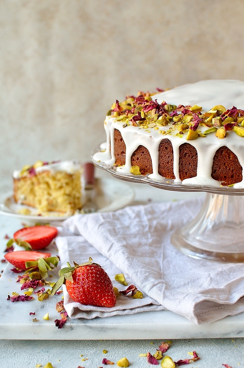 Persian love cake - a perfectly romantic cake for Valentine's day!