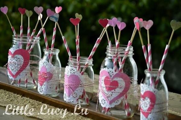 Valentine's mason jars