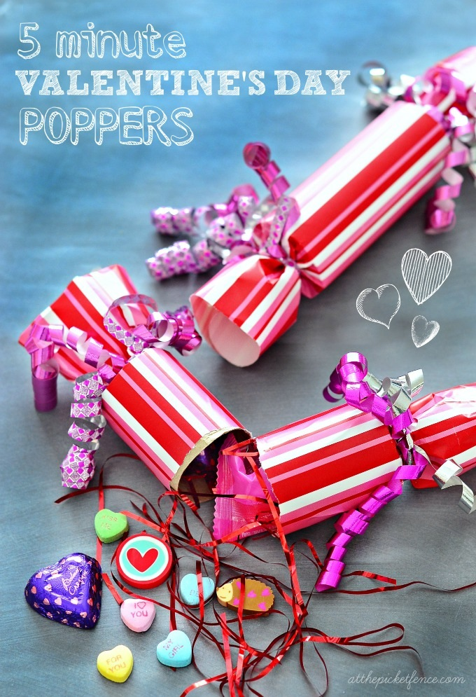 Valentine's party poppers