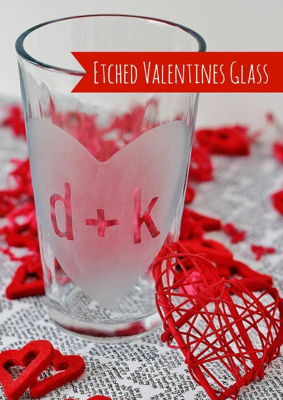 Valentines day glass diy