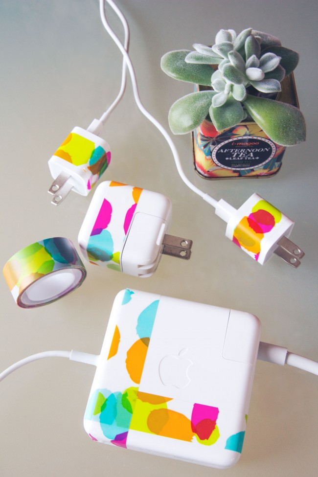 Washi tape charger hack