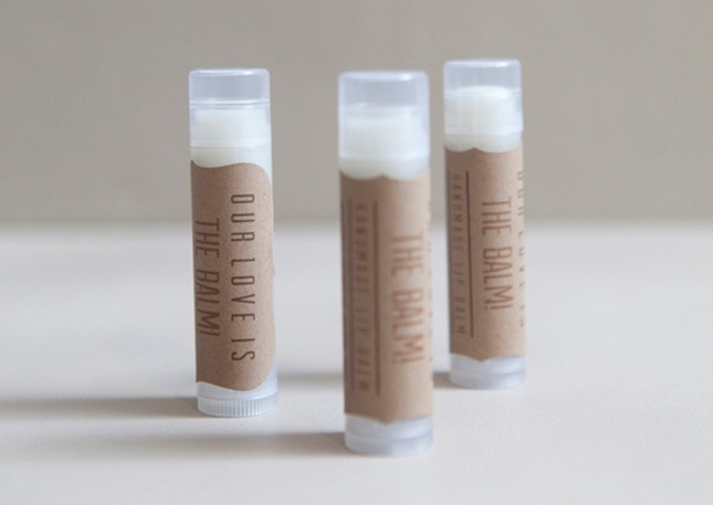 Wedding lip balm favours