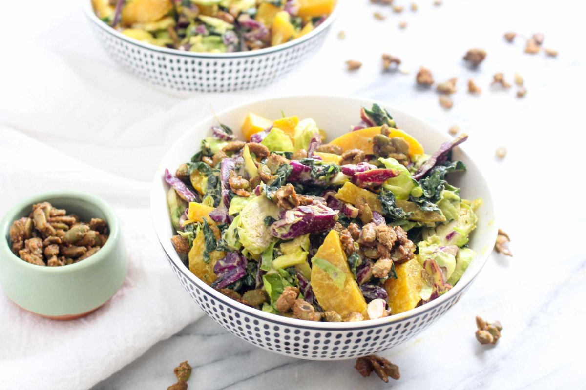 Winter kale salad recipe for family