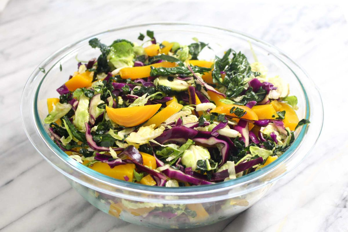 Winter kale salad mix