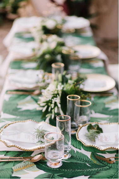 Banana leaf tablecloth
