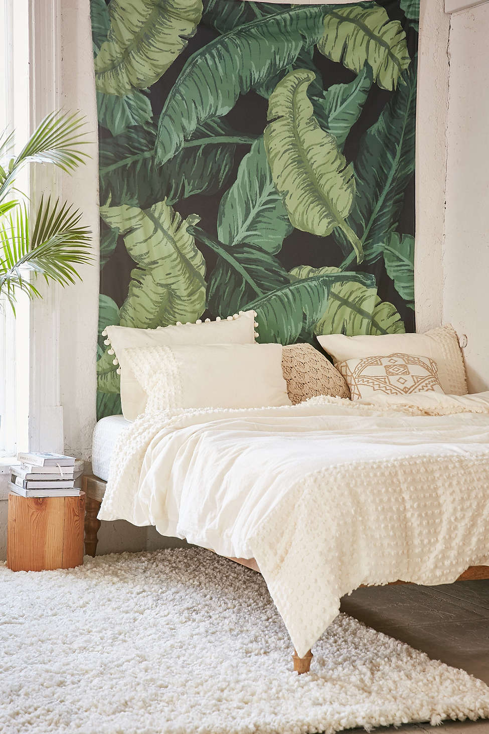 Banana leaf tapestry