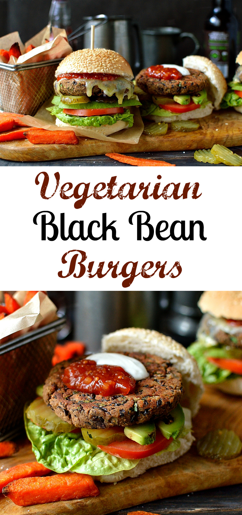 Delicious vegetarian black bean burgers that don't fall apart when cooked
